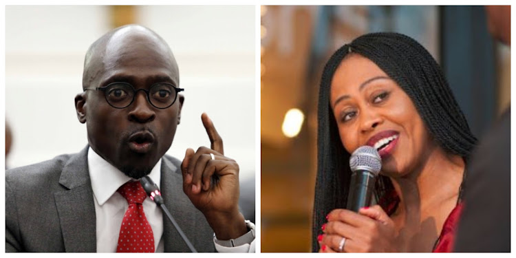 Malusi Gigaba and Redi Tlhabi threw words each other in a twar.