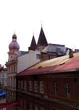 Photo: View from our apartment window!  Cathedral spires.  Sarajevo.