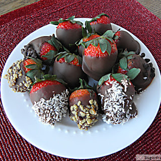 Chocolate Covered Strawberries [Dairy Free, Refined Sugar Free]