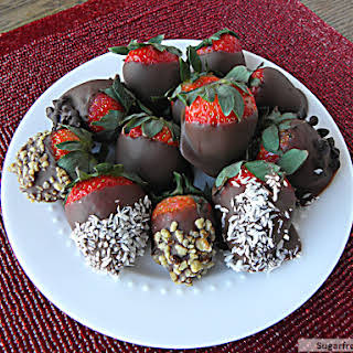 Chocolate Covered Strawberries [Dairy Free, Refined Sugar Free].