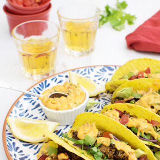 Moroccan Quinoa Mince Tacos with Creamy Harissa Dressing [Vegetarian] Recipe