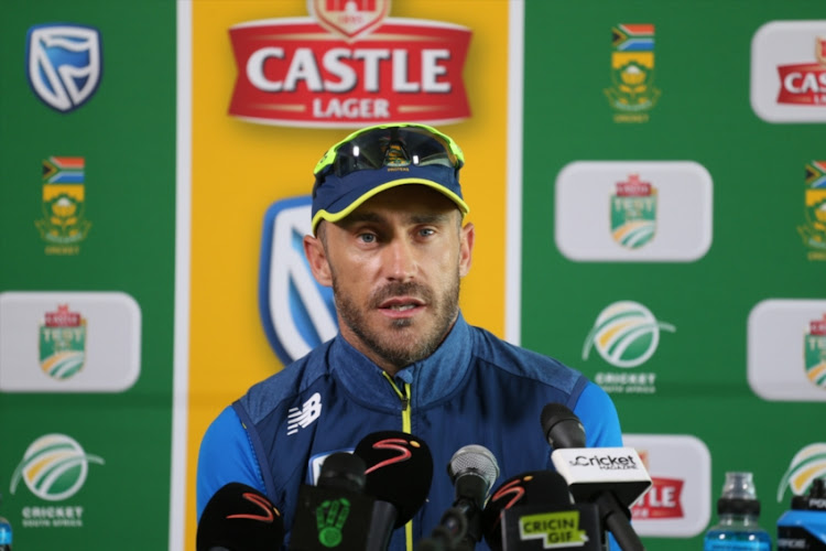 South African captain Faf du Plessis during day 4 of the 2nd Castle Lager Test match between South Africa and Pakistan at PPC Newlands on January 06, 2019 in Cape Town, South Africa.