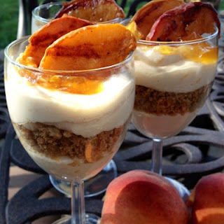 Grilled Peach Cheesecake Parfaits