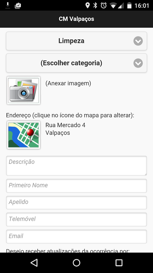 Alert'Valpaços- screenshot