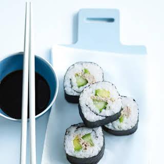 Tuna And Avocado Nori Rolls.