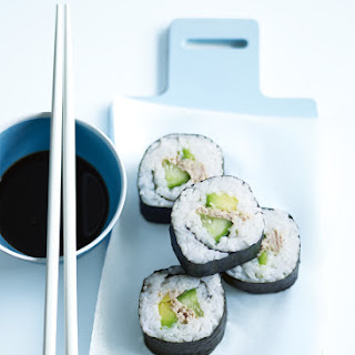 Tuna And Avocado Nori Rolls.