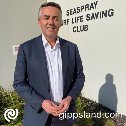 Seaspray SLSC was one of three local organisations to receive a Building Better Regions Fund grant but local MP Darren Chester says the program needs to be overhauled to deliver a fairer and more transparent system
