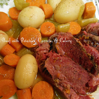 Corned Beef with Potatoes, Carrots, & Celery