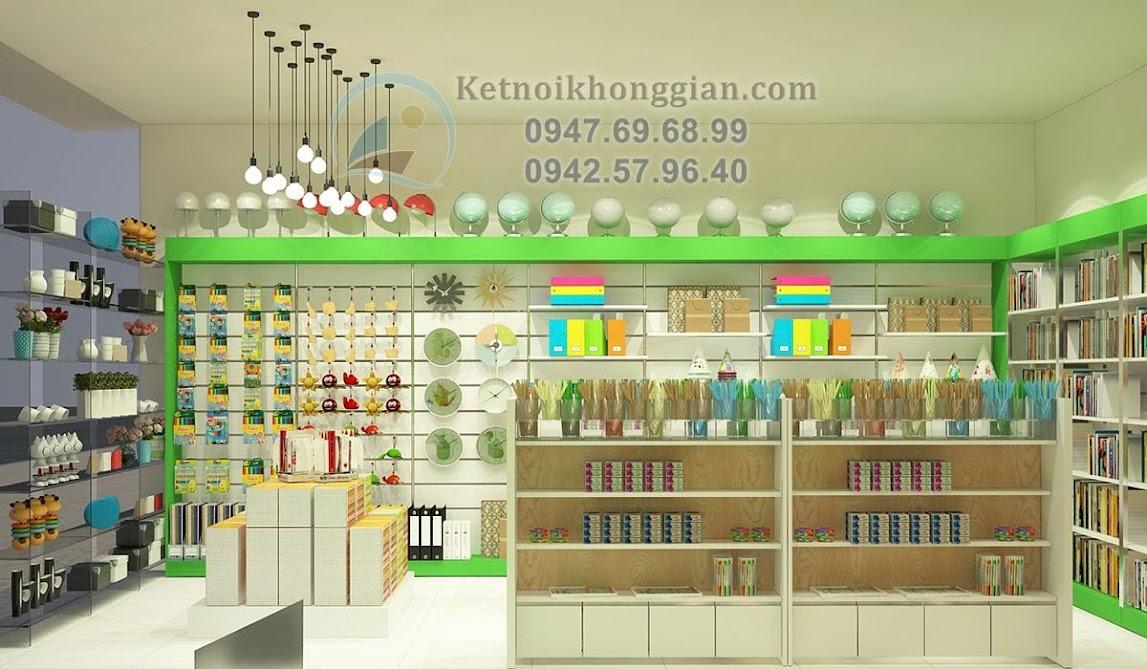 thiết kế nội thất cửa hàng văn phòng phẩm