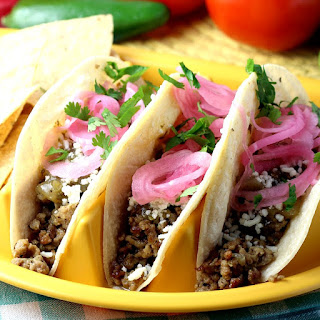 Ground Pork Carnitas Tacos.