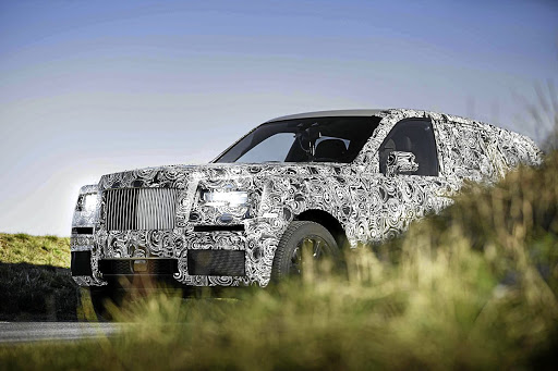 The Rolls-Royce Cullinan has been spotted testing near BMW in Munich.   Picture: NEWSPRESS  UK