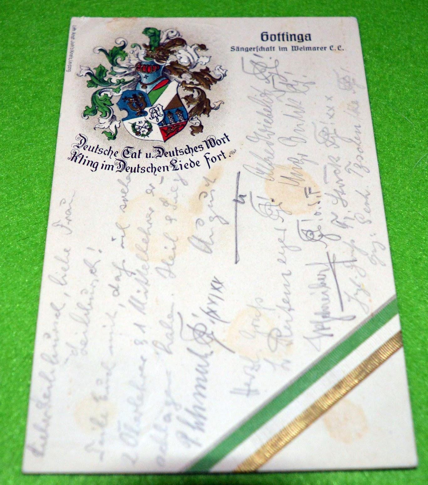 Studentenverbindung Gottinga (Göttingen) - Grußkarte