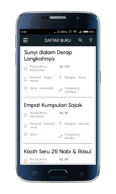 Donasi Buku- screenshot