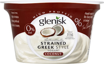 Glenisk Authentically Strained Greek Style Yogurt - Coconut, 150g