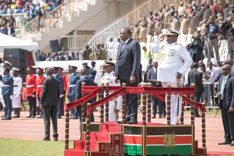 President Uhuru Kenyatta during the 56th Jamhuri Day celebrations on Thursday, December 12, 2019.