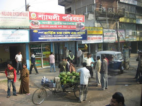 Photo: The departure terminal for long distance buses in Old Dhaka for famous Shyamoli Transportation Buses