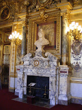 Photo: Now in the Conference Hall, where atop this fireplace is a marble bust of the Republic by renowned 19th century sculptor Auguste Clésinger.