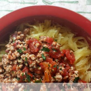4-Ingredient Spaghetti Squash with Meat Sauce.