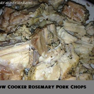 Slow Cooker Rosemary Pork Chops