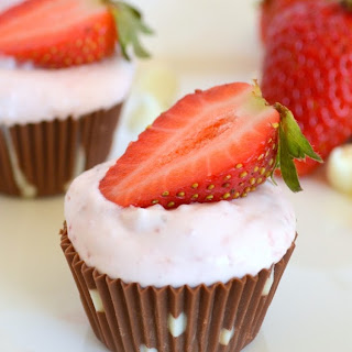 Chocolate Cups with Strawberry Mousse