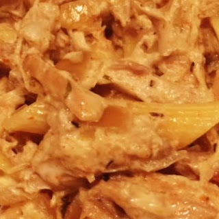 Slow Cooker Fettuccini Chicken Pasta Recipe
