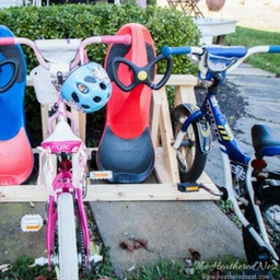 Build a homemade bike rack to help organize your garage the want a free pdf guide with the material list and instructions for this awesome project join my email newsletter and it will be emailed to you in seconds solutioingenieria Image collections