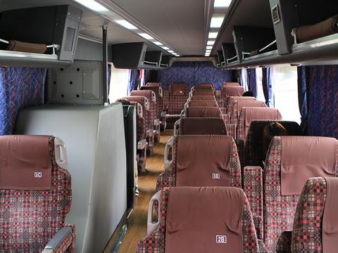 九州産交バス「ぎんなん号」 3157 車内