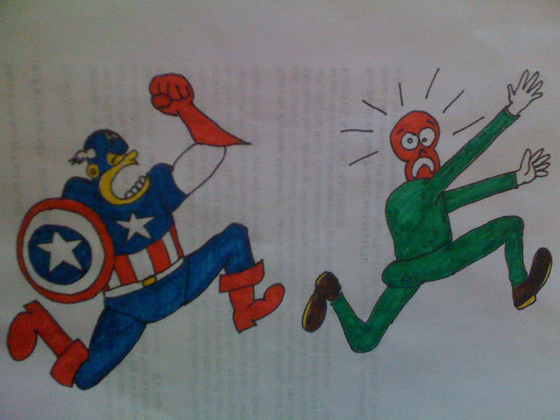 Photo: This was supposed to be a coloring page, but Charlie let me color it.