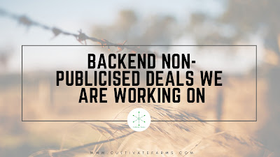 Backend Non-Publicised Deals We are Working on