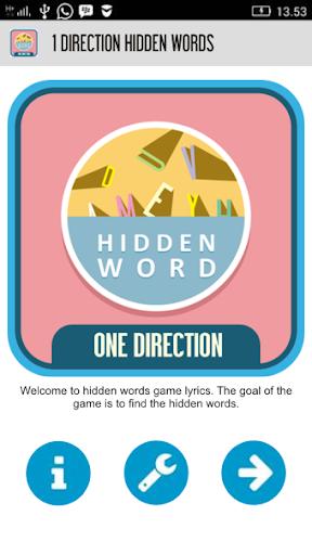 1 Direction Hidden Words
