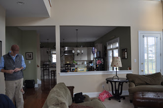 Photo: (Before) Reese's Half wall view from family room West Chester, PA