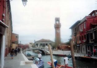 Photo: 90年9月、ムラノ島の元Chiesa Santo Stefano 時計台。