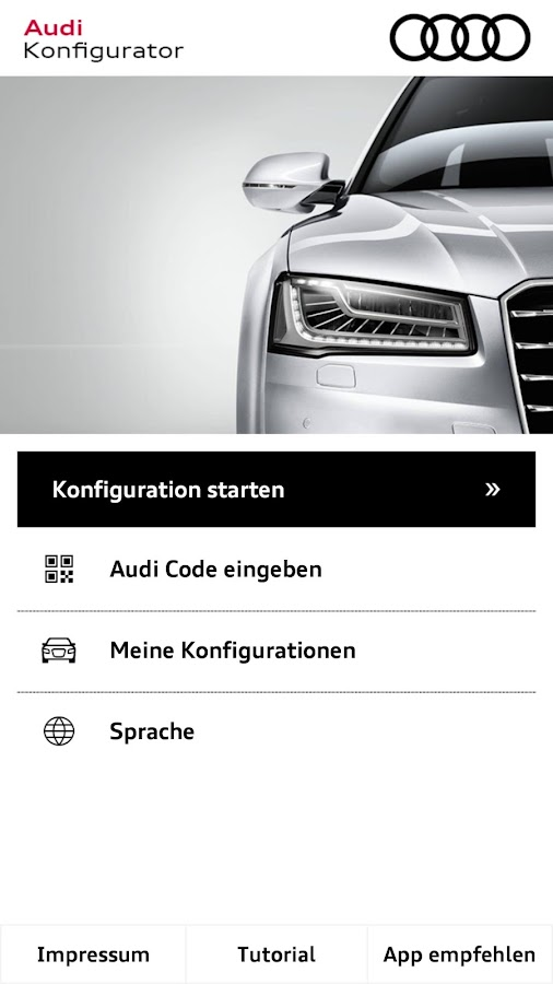 audi configurator android apps on google play. Black Bedroom Furniture Sets. Home Design Ideas