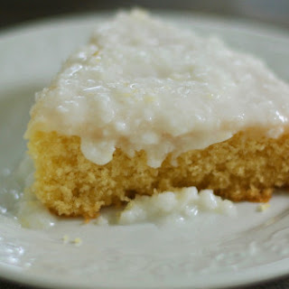 Gluten Free Sour Cream Coconut Cake.