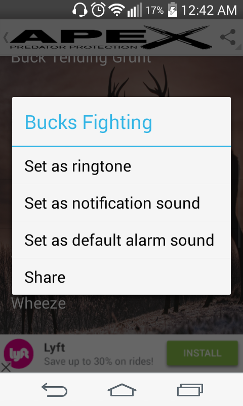Whitetail Deer Hunting Calls- screenshot