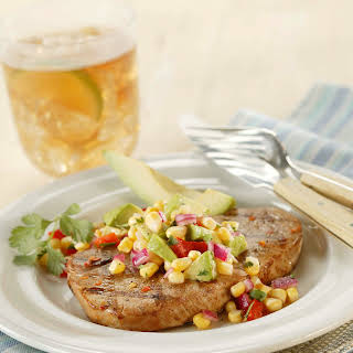 Chile-Rubbed Grilled Pork Chops.