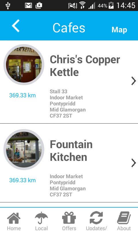 Pontypridd Town Guide- screenshot