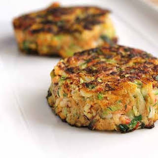 Crab Cutlets With Carrot And Marrows.