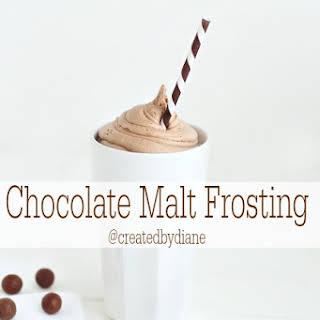 Chocolate Malt Frosting.