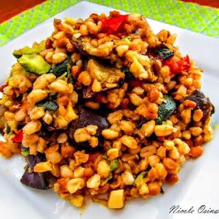Roasted Vegetable Farro Salad.