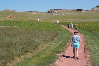 Photo: The one-mile Daemonelix Trail at the west end of the park offers visitors a tour through through time. In addition to a dry land beaver's curious spiral burrows, the Daemonelix or Devil's Corkscrew, visitors see ancient sand dunes and fossil grassland soils called paleosols.