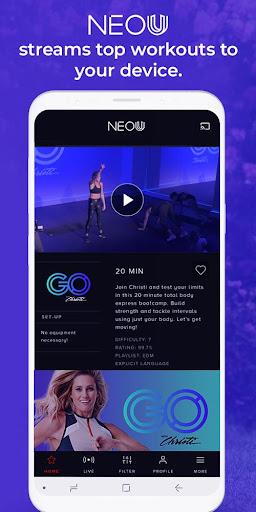 NEO U - Live & On Demand Fitness 1.0.29 screenshots 1