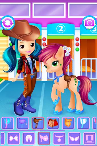 Pony & Girl Dress Up filehippodl screenshot 2