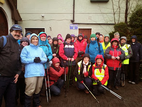 Photo: Group of C Walkers ready to participate in the Walking Festival on Saturday.