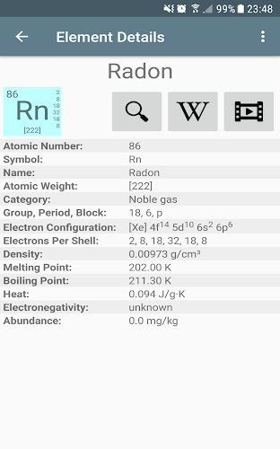 Periodic table of elements on google play reviews stats periodic table of elements android app screenshot urtaz Image collections
