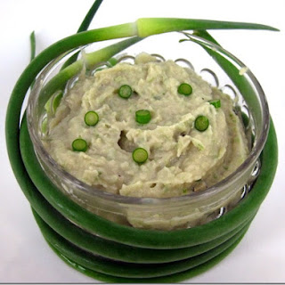 White Bean and Garlic Scapes Dip