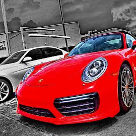 Turbo by JEFFREY LORBER - Transportation Automobiles ( porsche, rust 'n chrome, red car, 911.turbo, lorberphoto, sports car )