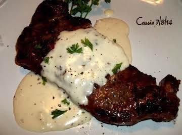 Steak With Creamy Garlic Parmesan Sauce