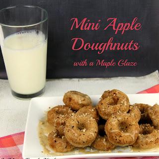 Mini Apple Doughnuts with a Maple Glaze