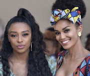 Besties DJ Zinhle and Pearl Thusi together.